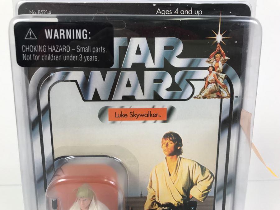 star wars the original trilogy collection luke skywalker hasbro 2004 85214 new on card photo