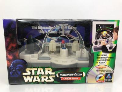 STAR WARS Millenium Falcon CD-Rom Playset Hasbro 1998 99180 New In Box