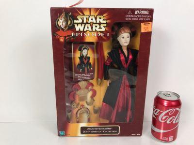 STAR WARS Episode 1 Queen Amidala Collection Ultimate Hair Queen Amidala Hasbro 1998 61778 New In box