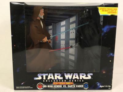 STAR WARS Collector Series Obi-Wan VS Darth Vader Electronic Power F/X    Kenner Hasbro 1997 27661 New In Box