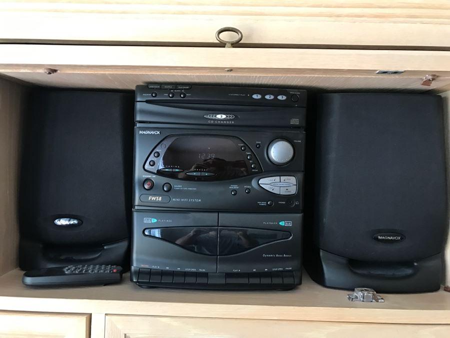 Just Added Magnavox Mini Hifi Stereo System Fw58