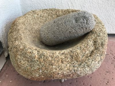 JUST ADDED - Native American Metate And Mano Grinding Stone