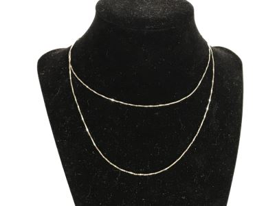 JUST ADDED - 14K White Gold Box Chain Necklace 2.5g