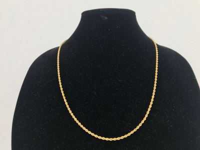 JUST ADDED - Heavy 14K Gold Rope Chain 17.1g $400MV