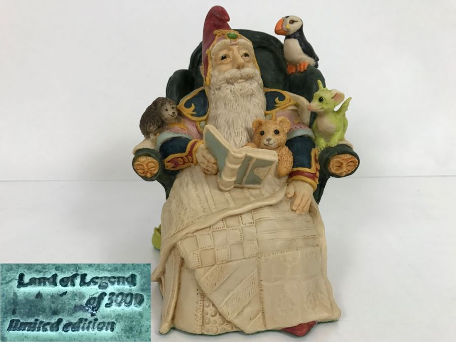 Whimsical World Of Pocket Dragons - Storytime At The Wizards House - Limited Edition of 3000 - 1989 - Lilliput Lane Land Of Legend Limited - Hand Made in UK [MV $550-$700] [Photo 1]
