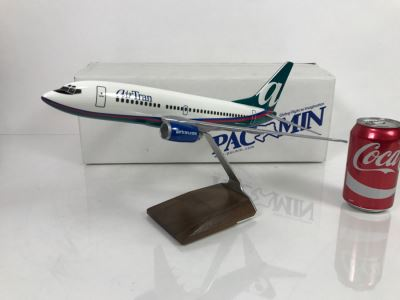 Pacific Miniatures PacMin Precision 1/100 Scale Model Airplane Of AirTRAN (2004) Boeing 737-700 With Box