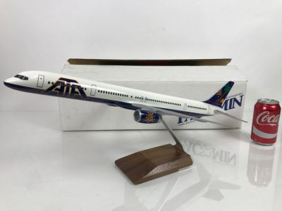 Pacific Miniatures PacMin Precision 1/100 Scale Model Airplane Of American Trans Air ATA Boeing 757-300 With Box
