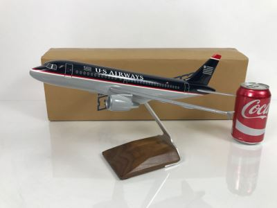 Pacific Miniatures PacMin Precision 1/100 Scale Model Airplane Of US Airways A319 With Box