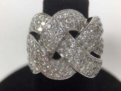 Stunning Platinum Diamond Ring PT900 Apx 2.00 Carat TW VS-2 To SI-1 G-H Appraised Fair Market Value $2,200 Ring Size 5.5 16g