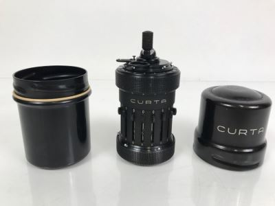 RARE CURTA Type I Mechanical Calculator With Metal Case And Manuals By Contina Ltd Mauren System Curt Herzstark Made In Liechtenstein Custom Union With Switzerland No. 40868 Very Good Condition Estimate $1,600