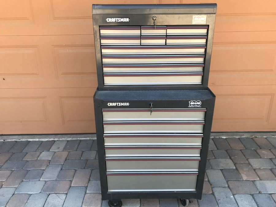 CRAFTSMAN Rolling Metal Tool Cabinet Box Loaded With Tools Including CRAFTSMAN Tools See All Photos [Photo 1]