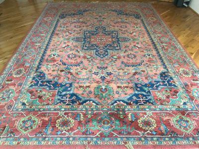Stunning Karastan 100% Wool Pile Rug Medallion Serapi 8.8' X 12' Area Rug