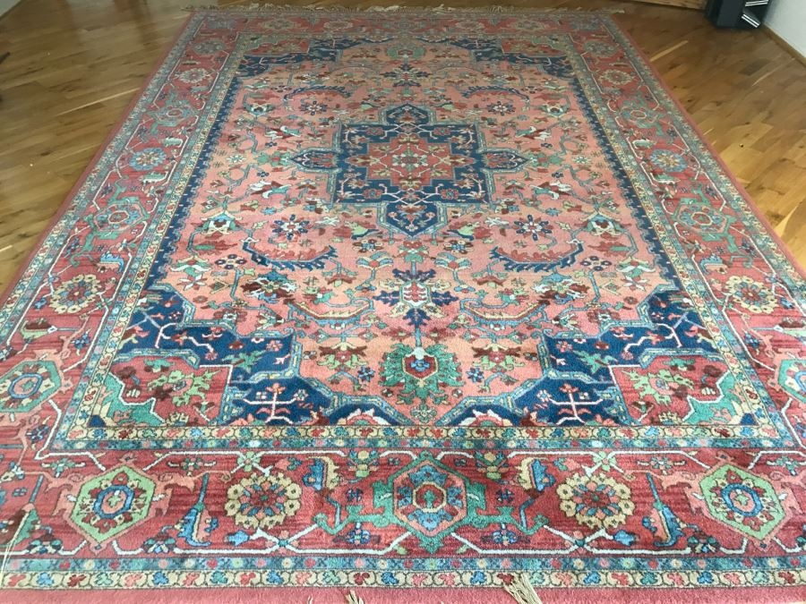 Stunning Karastan 100% Wool Pile Rug Medallion Serapi 8.8' X 12' Area Rug [Photo 1]