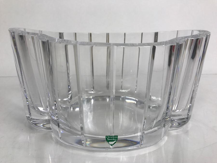 Vintage Orrefors Sweden Crystal Vase