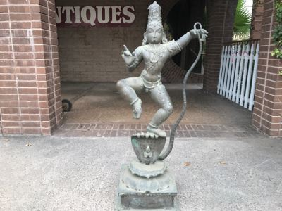 Antique Bronze Sculpture Of Krishna Dancing on Kaliya (Kaliyahimarddaka Krishna) Weighs 166Lbs See All Photos