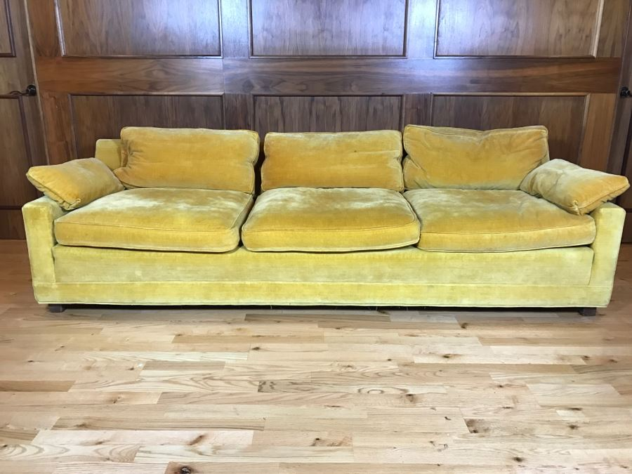 High End W & J Sloane Mid-Century Modern 3-Seat Sofa Couch
