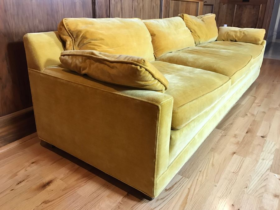 High End W Amp J Sloane Mid Century Modern 3 Seat Sofa Couch