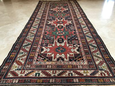 Stunning Antique Persian Tribal Runner Rug Hand Knotted Wool Rug Measures 8'11' X 3'10'
