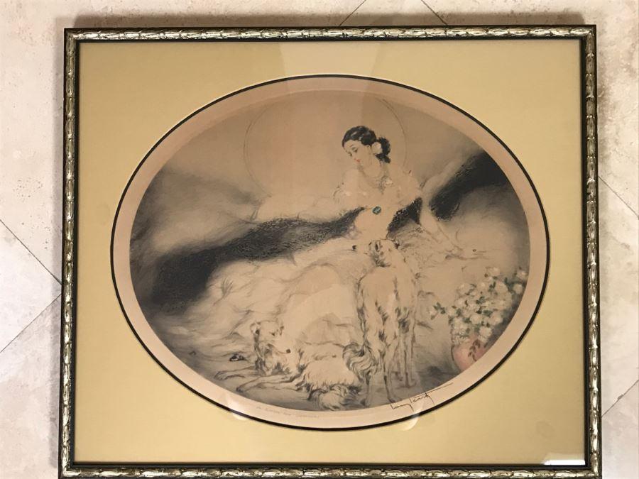 Louis Icart Etching Titled 'La Dame Aux Camelias' [Photo 1]