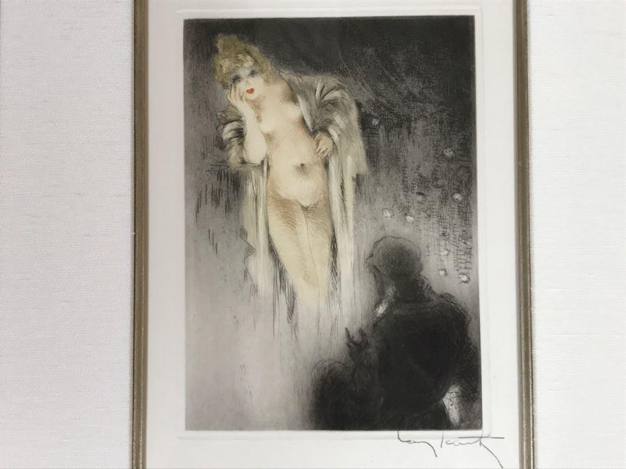 Louis Icart Etching Titled 'Les Amours De Psyche Et De Cupidon' With COA Centaur Sculpture Galleries