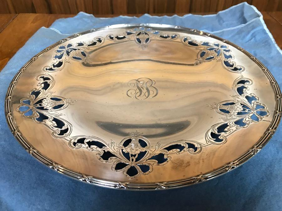 Sterling Silver Shreve & Co San Francisco Monogramed Footed Bowl 533g