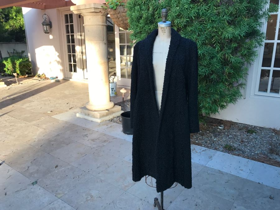 Teitelbaum Furs Beverly Hills Black Persian Lamb Coat Appraised In 1985 For $1,000 - From Furrier To The Stars Al Teitelbaum