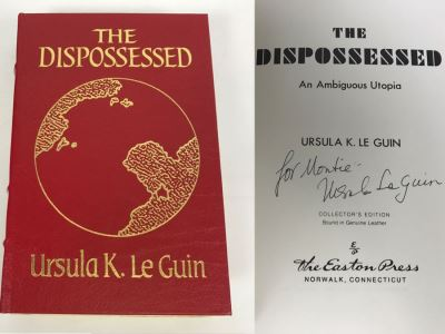 Signed Easton Press Hardcover Book The Dispossessed An Ambiguous Utopia By Ursula K. Le Guin