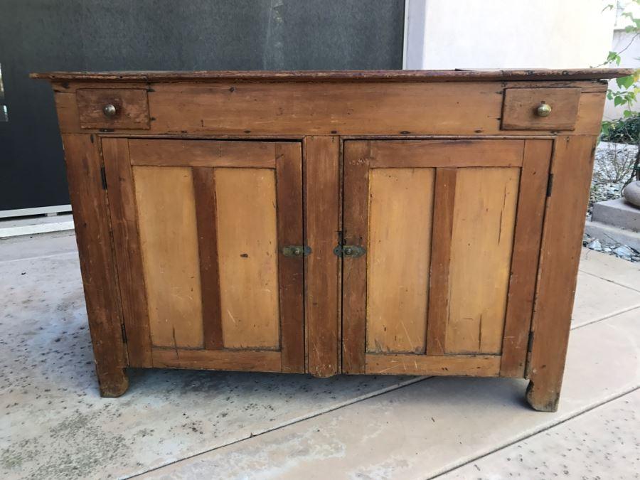 JUST ADDED - Antique Primitive Washstand Wash Basin Cabinet