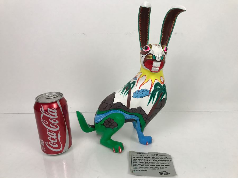 Oaxacan Folk Art Hand Crafted And Painted Rabbit By Catarino Carrillo Arrazola Oaxaca Mexico [Photo 1]
