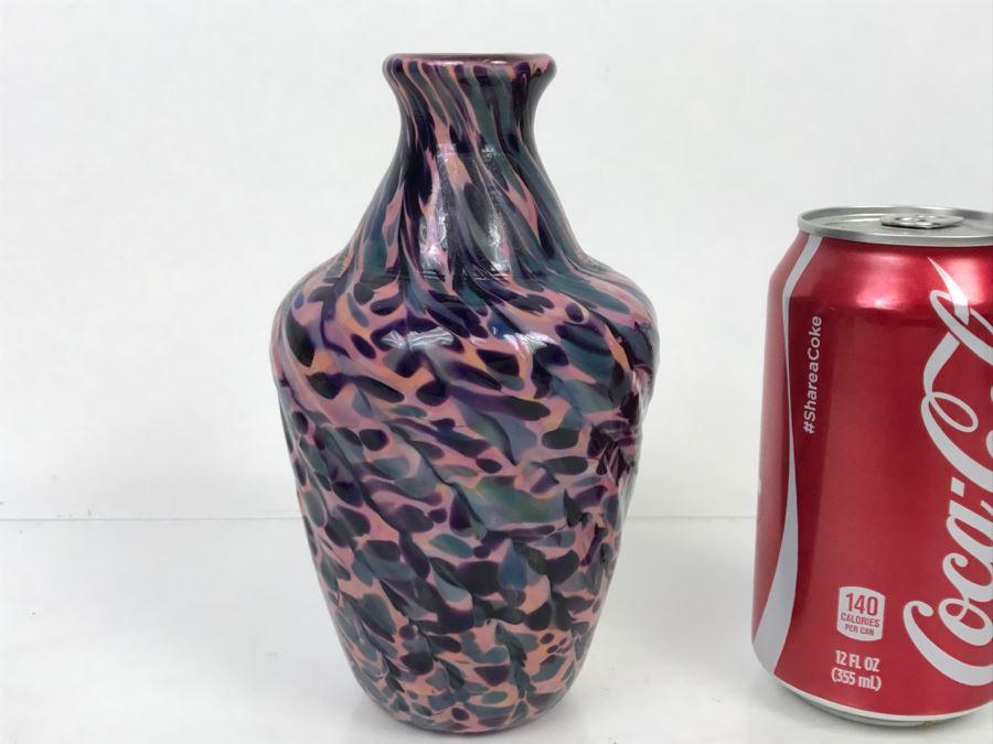 Signed Ivan Adaniya Art Glass Vessel Vase