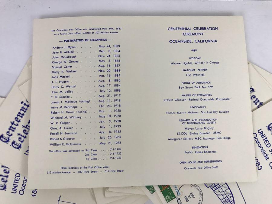 Collection Of Centennial Celebration Ceremony Programs