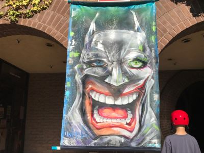 Large Original Painting On Canvas Of Batman Joker Hybrid Signed Unity21