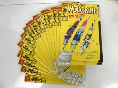 Collection Of (15) Marvel Comics Codename: Wolverine Top Secret #50 Each With Spider-Man 30th Anniversary Promotional Card Mint Condition