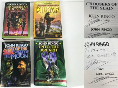 Set Of (4) Signed John Ringo Books
