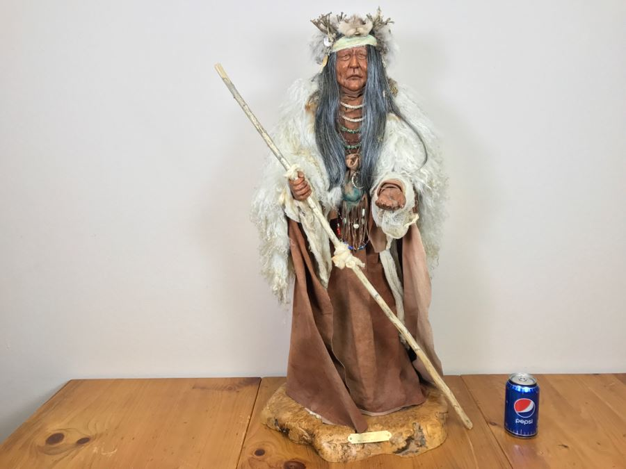 Impressive SHAMAN Sculpture By Michele Malpica AKA Misha 35'H X 18'W Retailed For $2,200 [Photo 1]