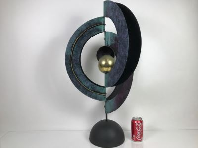 Large Metal Sculpture Signed Signature Illegible See Photos 30'H