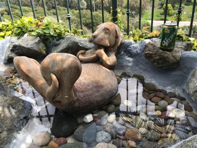 Large Cement Garden Ornament Otter