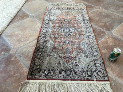Finely Knotted Persian Silk Rug 51' X 25'