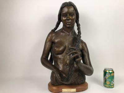 1988 Limited Edition Bronze Titled 'TAW-NEE' By Artist Renée 1 Of 15 15'W X 12'D X 23'H