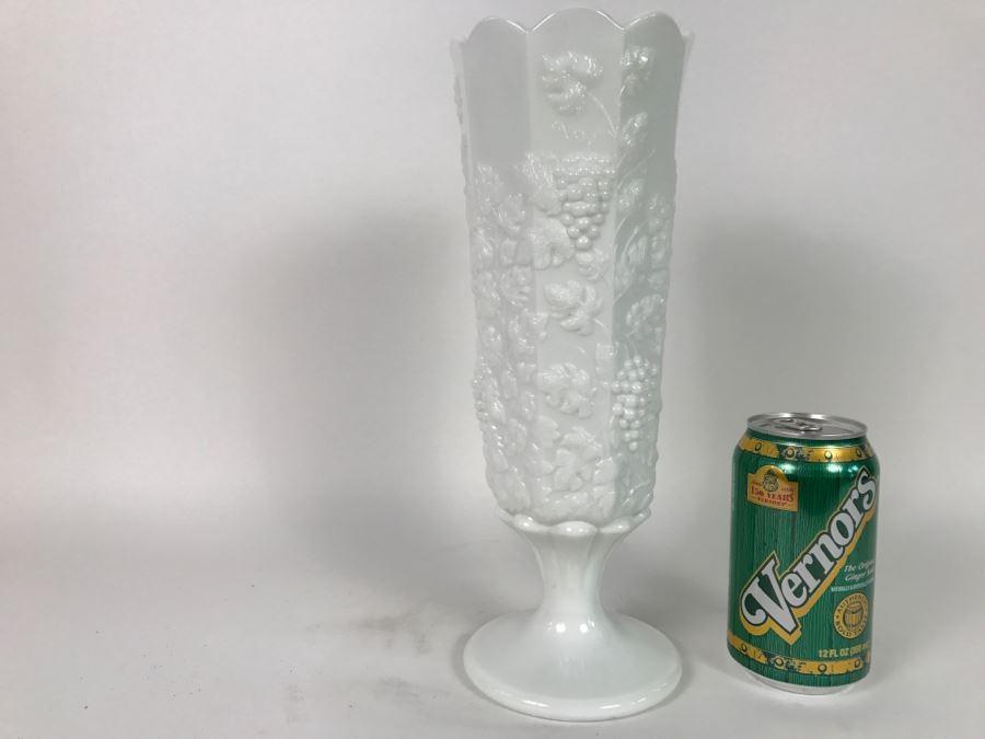 Vintage Westmoreland Milk Glass Vase Wg