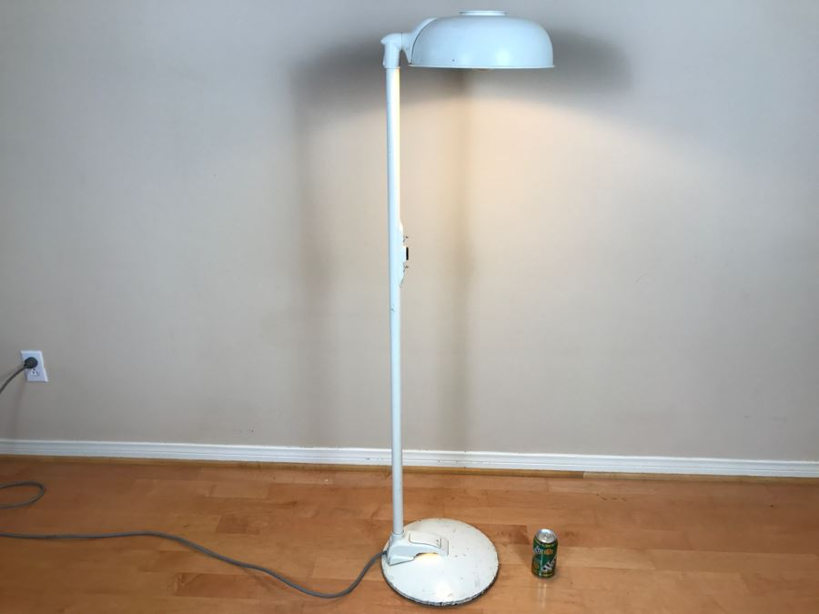 Mid-Century Modern Art Deco Industrial Swivel Light Metal Floor Lamp ...