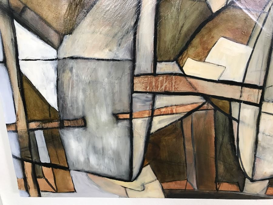 Original Abstract Untitled Oil Painting By Katlin Evans 60