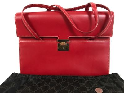 GUCCI Handbag Red With GUCCI Dust Jacket