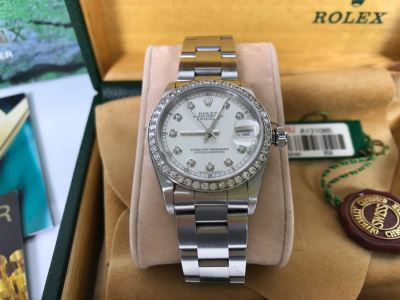 ROLEX Oyster Perpetual Datejust Ladies Diamond Watch 68240 With Case And Paperwork Estimate $5,000