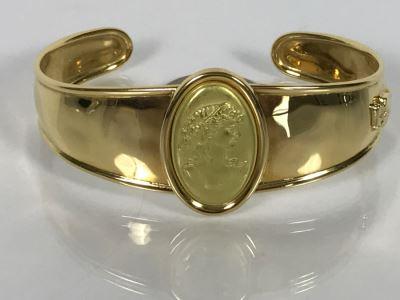 18K Yellow Gold ANFORA Italy Ladies Bracelet 20.2g