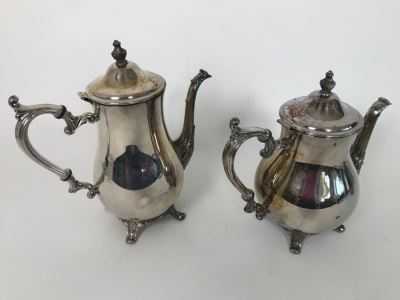 Vintage WM Rogers 800 Silver Coffee Pot And Teapot 1,848g TW