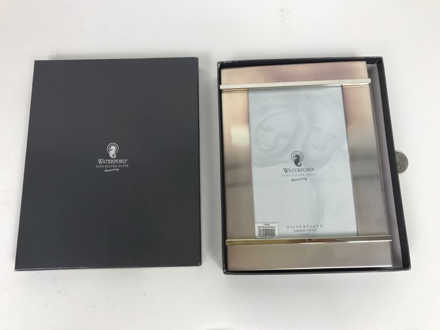New In Box Waterford Crystal Picture Frame 4X6 Newgrange