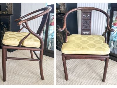 Stunning Vintage Chinese Rosewood Carved Armchair