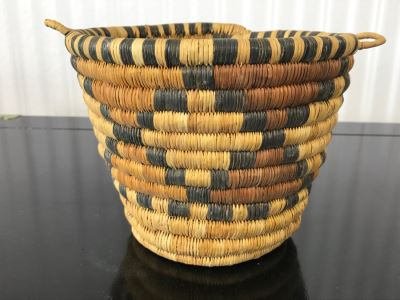 Vintage Native American Style Woven Basket