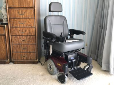 Invacare Pronto M51 Power Chair Red With SureStep And Manuals